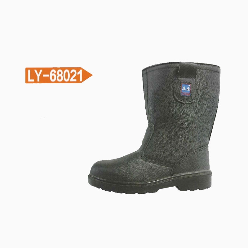 迈腾 鹿原LY-68021 连帮双密度PU优质压花牛皮劳保鞋 35-47码