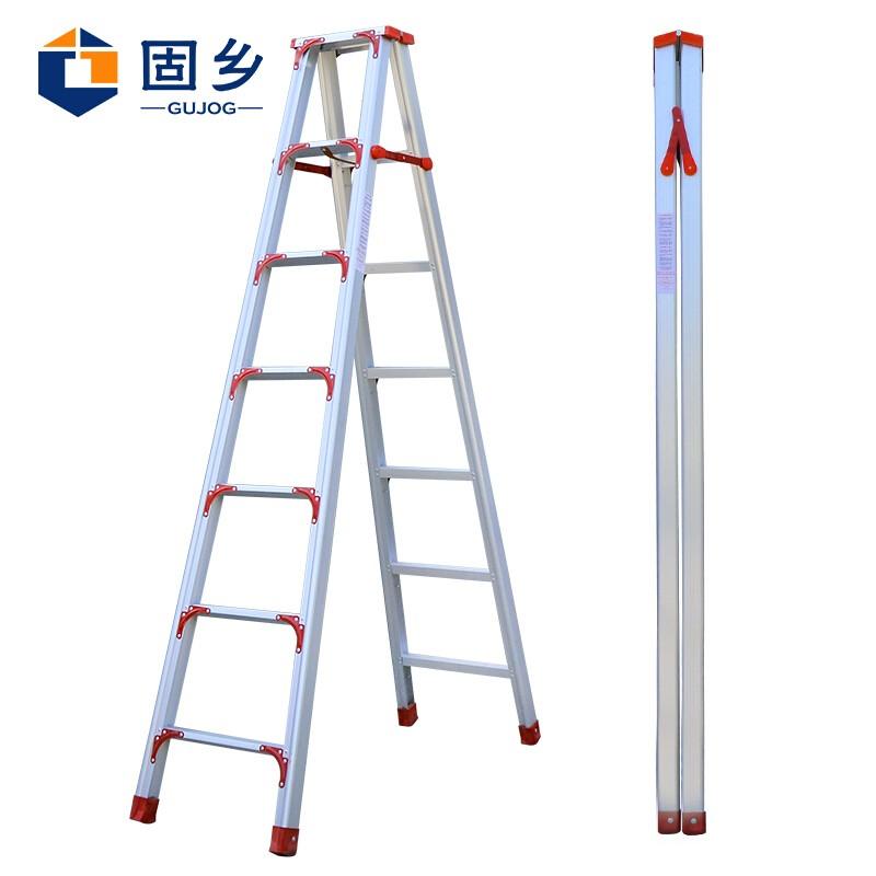 迈腾 普力捷工程梯子铝合金伸缩梯升降梯多功能折叠梯加厚人字梯装修梯复式楼用梯4-10米 检测铝梯定制 (加宽加固款2.5米)