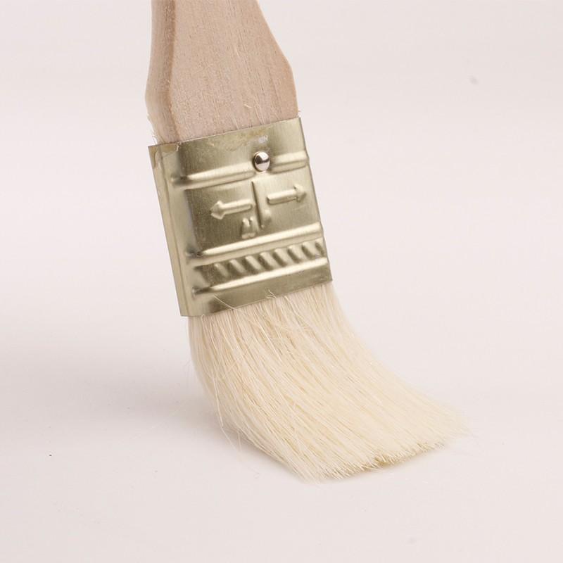 迈腾慧采 羊毛刷子木柄涂料刷1寸2寸3寸4寸5寸乳胶油漆刷水性漆刷清洁工具软毛刷 1寸羊毛刷1把装