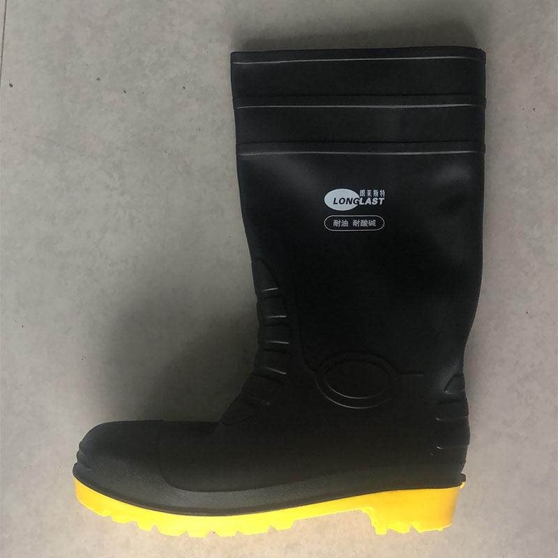 正品 朗莱斯特耐油 耐酸碱雨鞋 工业橡胶靴 耐化学品高筒胶鞋雨鞋 防砸雨鞋